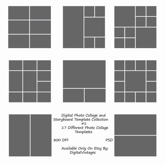 Instant Download- 12x12 Storyboard Photographers Template 17 - digital storyboard templates