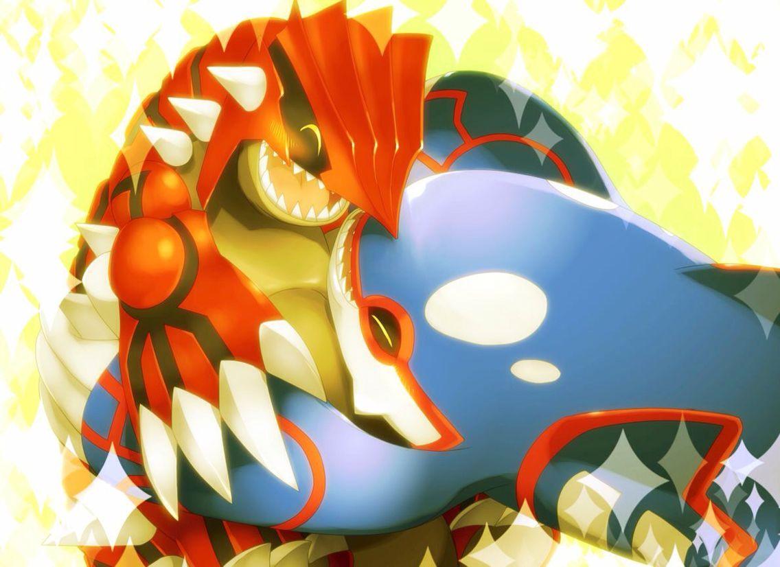 Groudon And Kyogre Pokemon Pokemon Pokemon Images