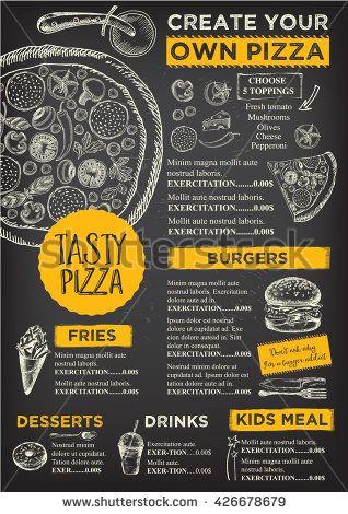 Menu Placemat Food Restaurant Brochure Menu Template Design
