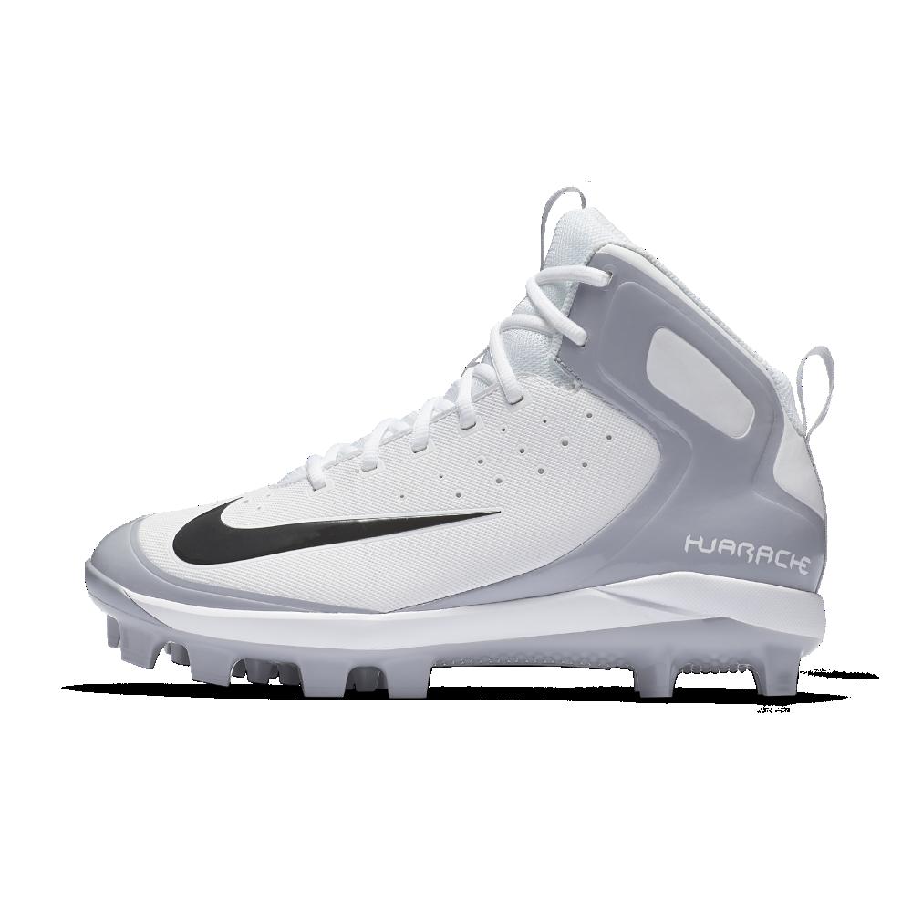 02e94d4dff88 Nike Alpha Huarache Pro Mid MCS Men s Baseball Cleats Size 12.5 (White)