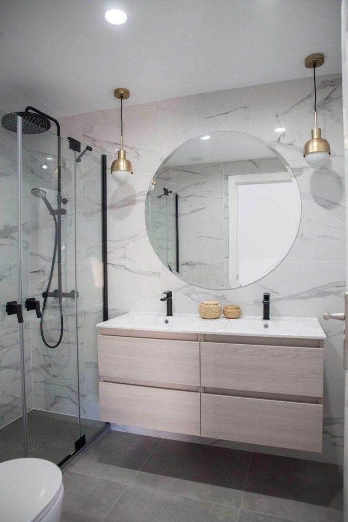Photo of 56 sensationelle kleine Badezimmerideen mit kleinem Budget 29 #smallbathroomremodel 56 sens …