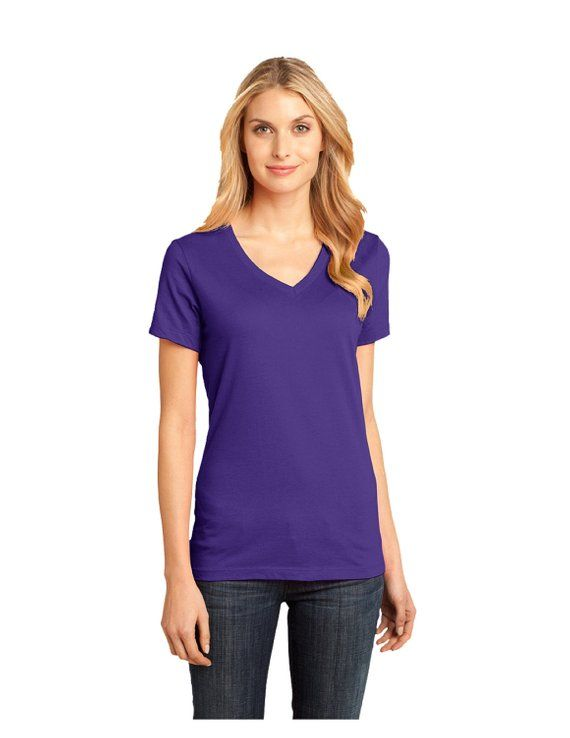 6da10e6735b9 doTerra - Approved and Compliant - Purple Ladies Bling V-Neck T-shirt