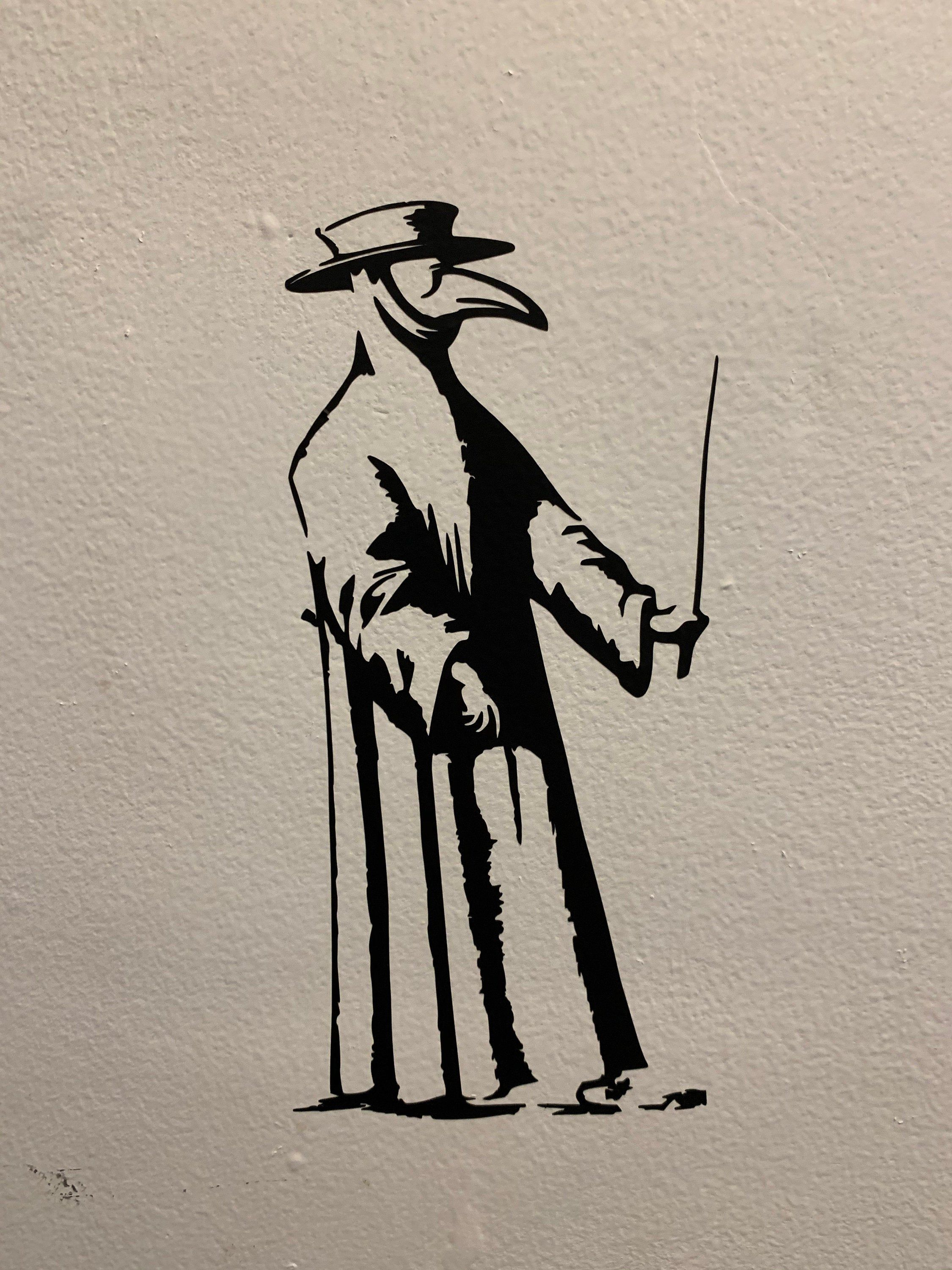 Plague Doctor Vinyl Wall Decal In 2020 Plague Doctor Doctor Drawing Doctor Tattoo