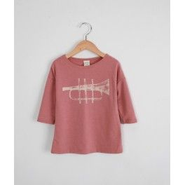 SB Troumpet t-shirt [pale pink]  www.mintandpersimmon.com