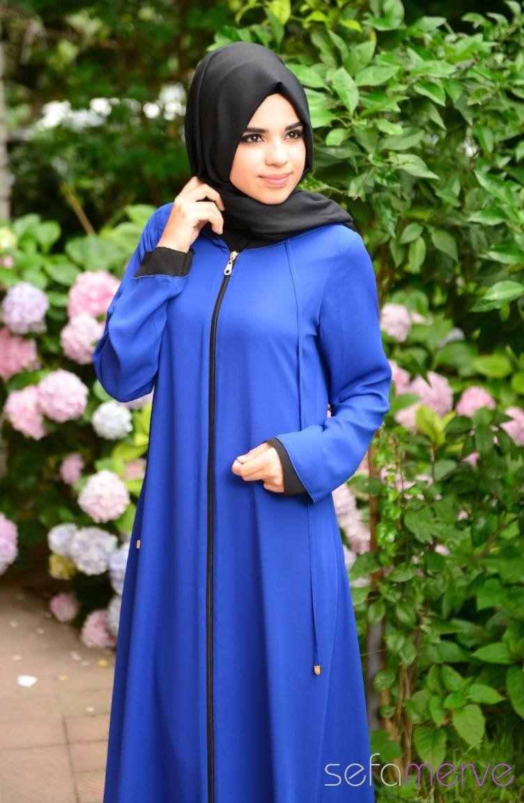 7825c4d1880ec Şükran Ferace Yeni Sezon 35475-18 Saks Siyah | Islamic fashion ...