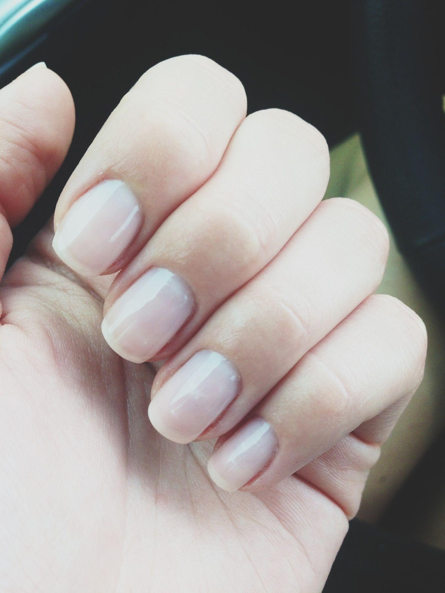 Perfect natural nail- OPI shellac bubble bath | Beauty. | Pinterest ...