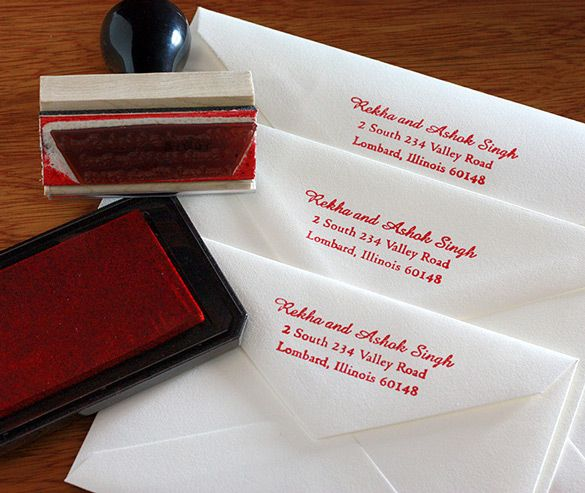 wedding invitations rubber stamps are a fun and economical way to add your return address to your - Return Address For Wedding Invitations
