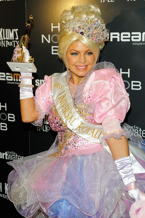 fergie as a pageant girl from toddlers tiaras at heidi klums halloween party at the - Pageant Girl Halloween Costume