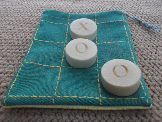Tic Tac Toe Wooden game Tic Tac Toe Handmade game by WoodpeckerLG