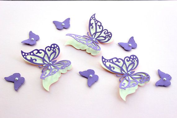 New Color Shades Of Purple Hand Painted Butterfly Cake