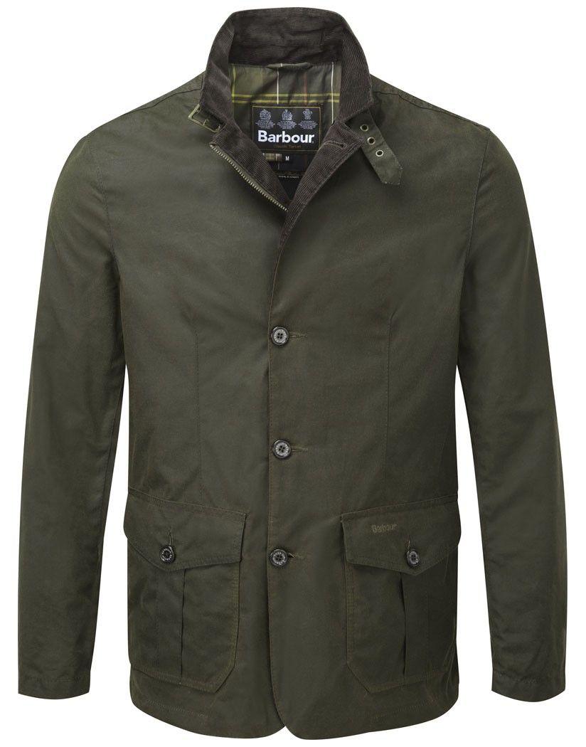 c078f186136 Barbour Men s Lutz Waxed Jacket – Olive MWX0566OL51