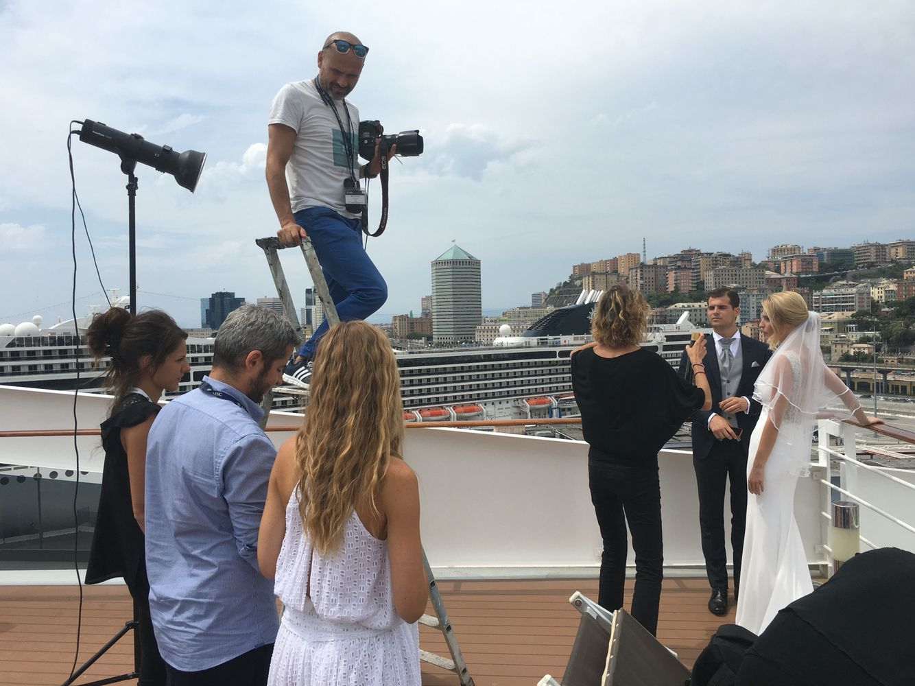 Backstage Shooting fotografico a bordo di MSC Fantasia