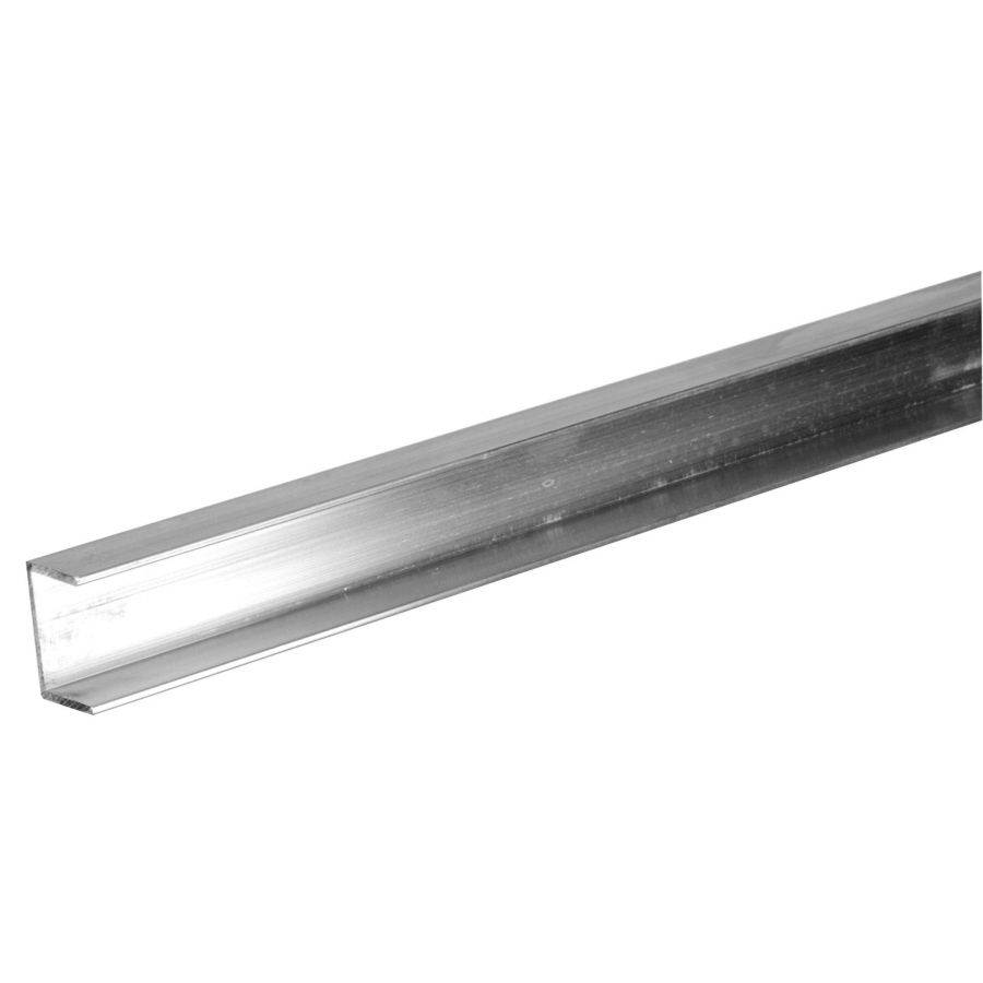 Steelworks 8 Ft L X 1 2 In W X 5 8 In H Aluminum Trim Channel Clear Acrylic Sheet Aluminum