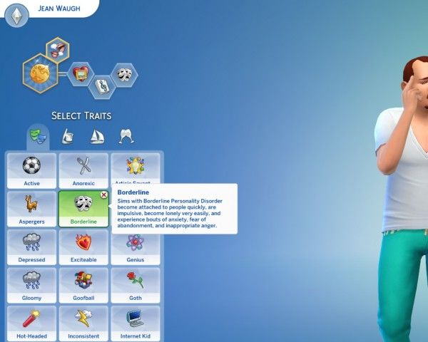 Mod The Sims: Borderline Personality Disorder Custom Trait by