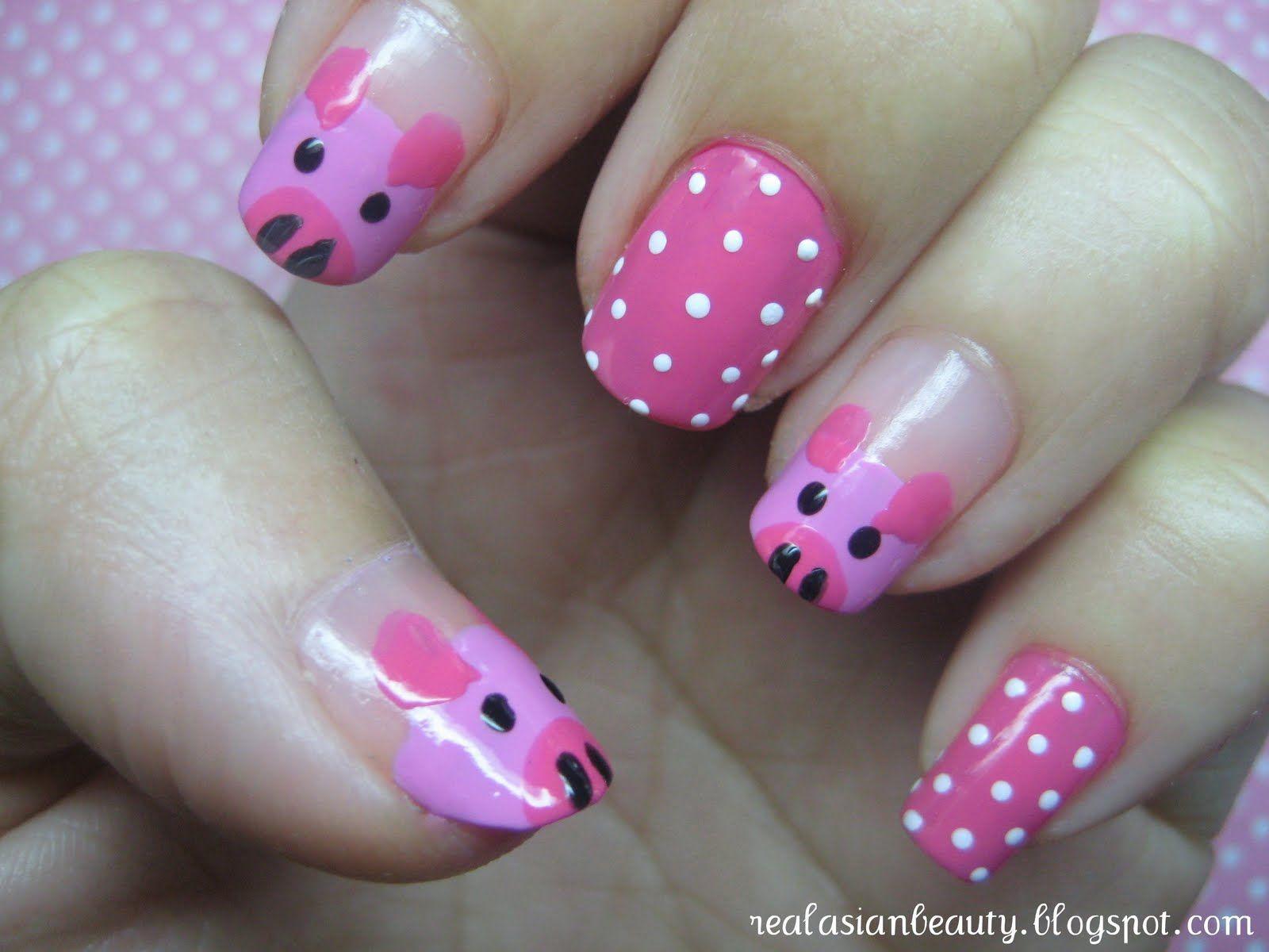 Pin by CYnthia Ortiz on Estilo Pinterest Pig nails Nail nail