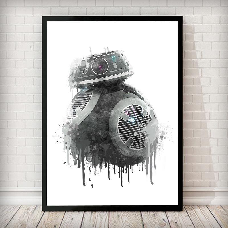 Dripping bb 9e droid art print this print will turn heads in any room