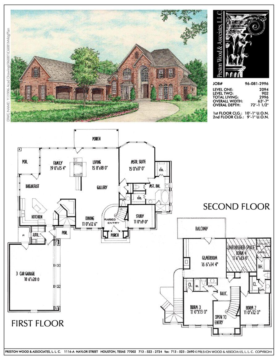 Two Story House Plan C6081 Two Story House Plans House Floor Plans Floor Plans