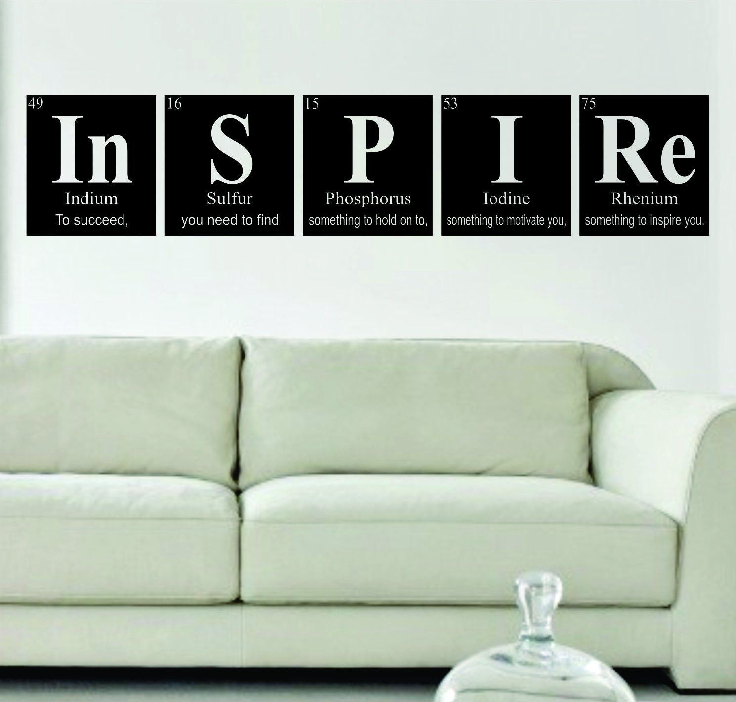 Vinyl Decoration Table : Inspire periodic table science design decal sticker wall