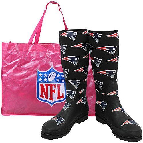 fd06bb053 New England Patriots - Cuce Shoes Women s Enthusiast Rain Boot