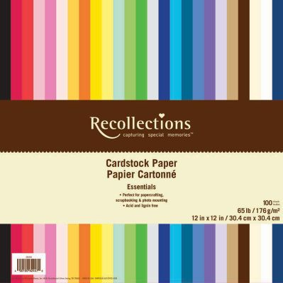 Color cardstock paper