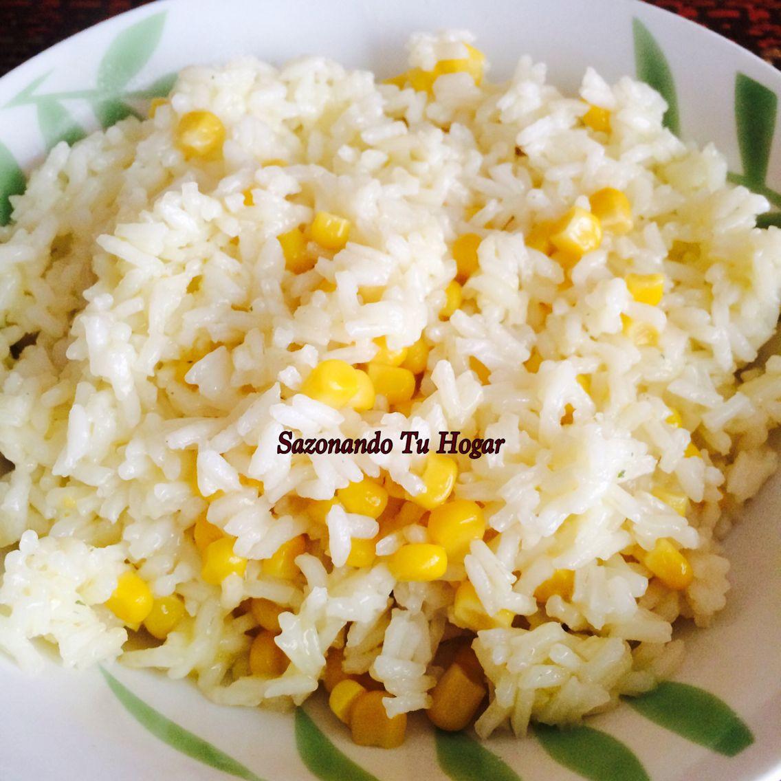 Arroz blanco con elote receta mary s cuellar comparte en for Cuchara para consome