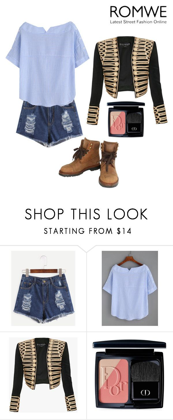 """RO😢"" by lady-shadylady ❤ liked on Polyvore featuring Balmain, Christian Dior and Chanel"
