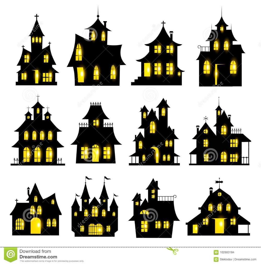 Haunted House Halloween Coloring Halloween Haunted Houses Halloween Images