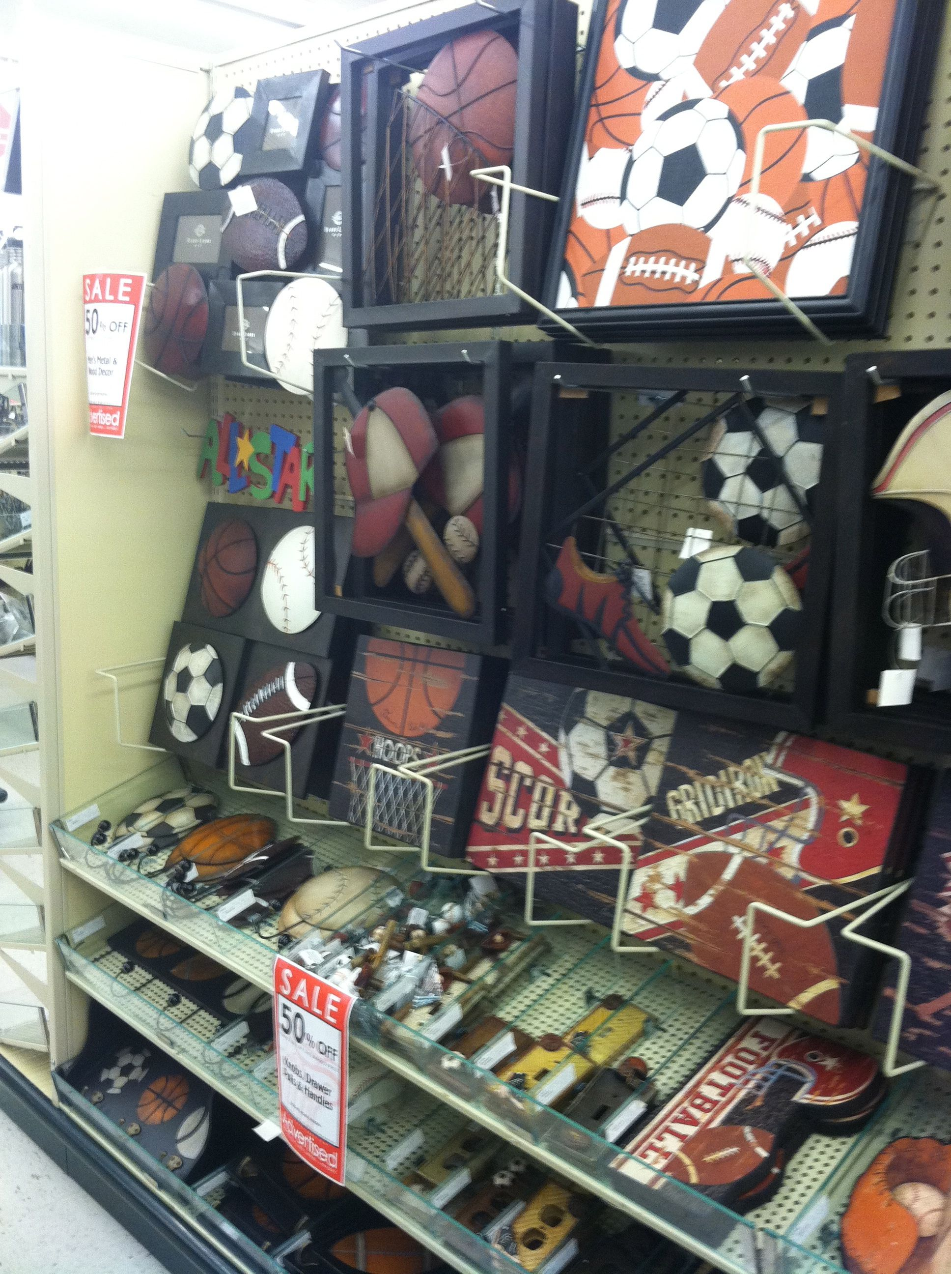 Guess Ill Be Checking Hobby Lobby !! Sport Decor From HobbyLobby For Boys  Bathroom