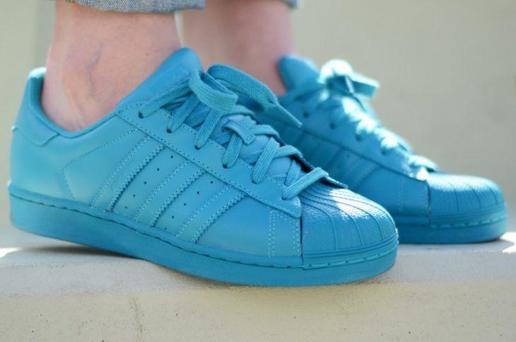 adidas superstar azules mujer