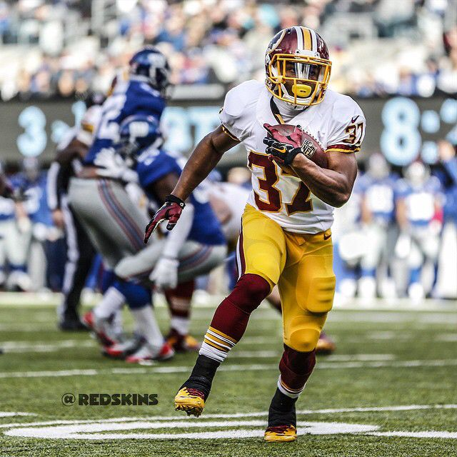 Chris Thompson's first-career NFL touch resulted in a TD. #HTTR