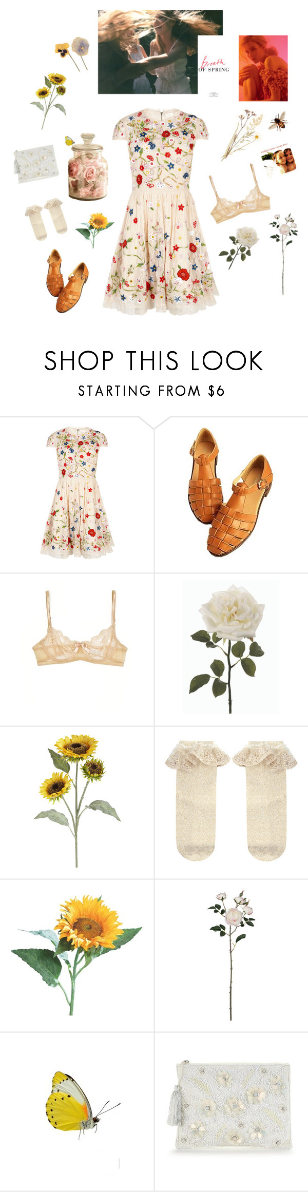 """""""An abundance of florals"""" by jlivviesmith ❤ liked on Polyvore featuring Alice + Olivia, Eberjey, Pier 1 Imports and Monsoon"""