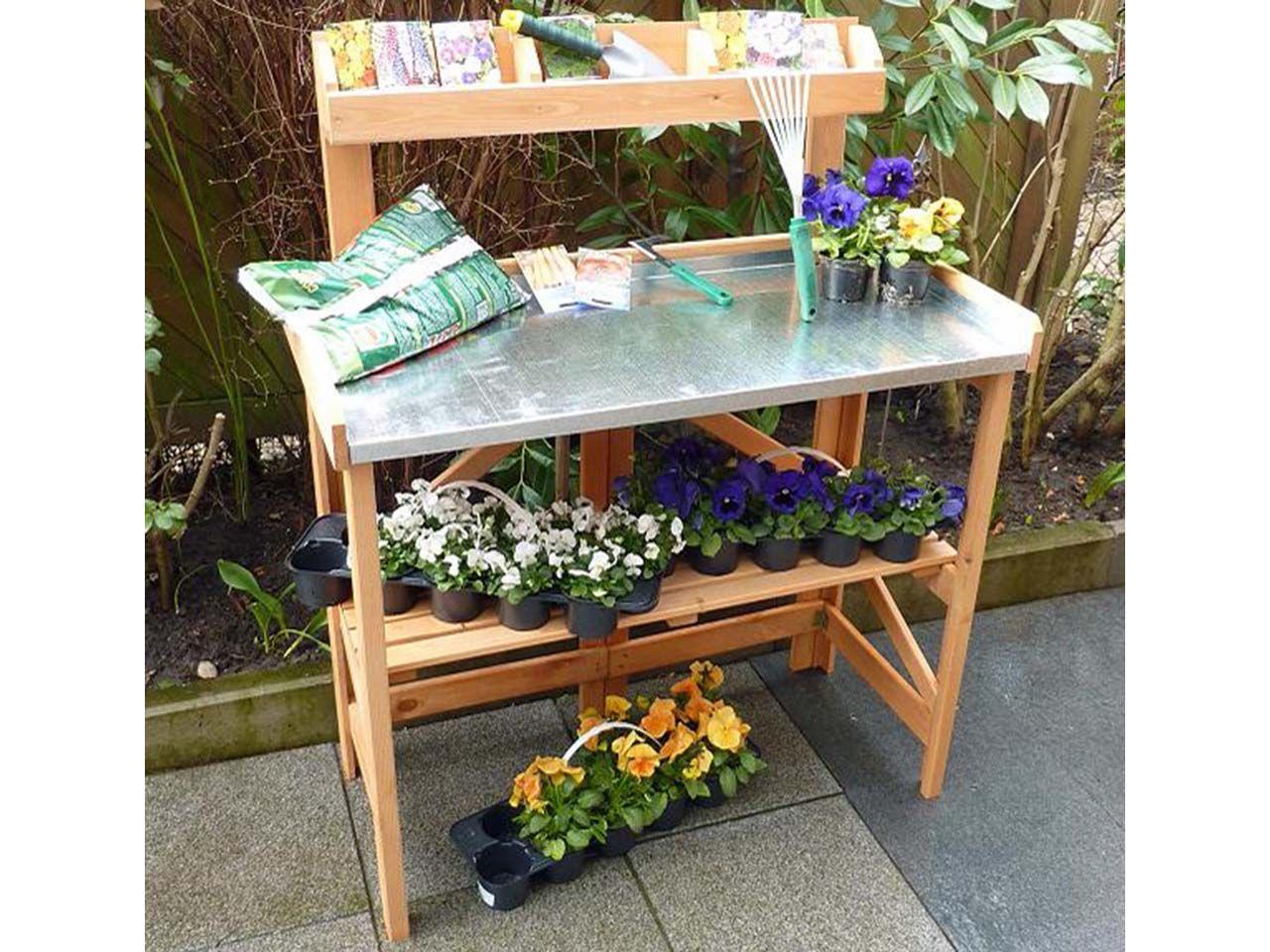 Pflanztisch Klappbar Mit Ablage Pflanztisch Pflanzen Und Tisch