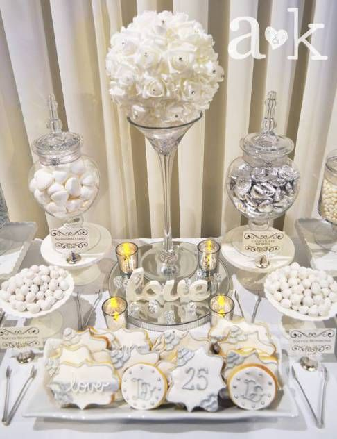 Silver wedding anniversary dessert buffet by a k lolly