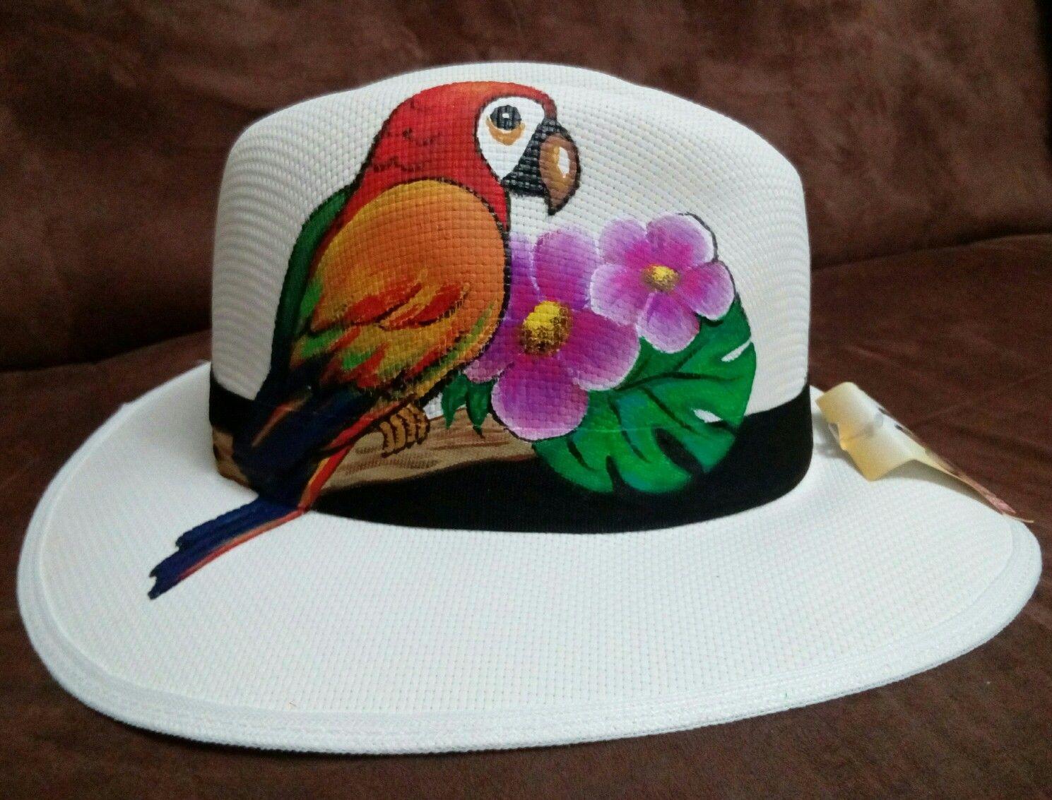 SOMBRERO PINTADO Sombreros Pintados A Mano 90f499bc557