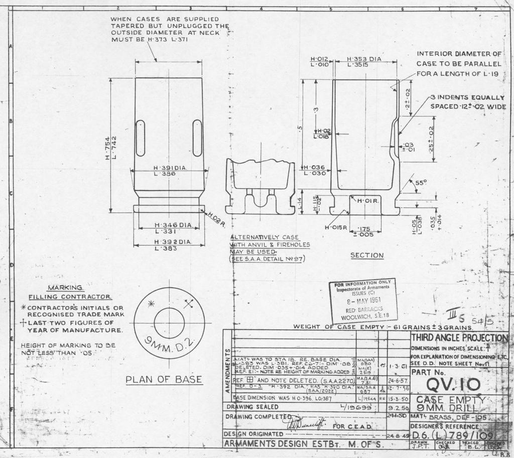 drawing of british 9mm drill