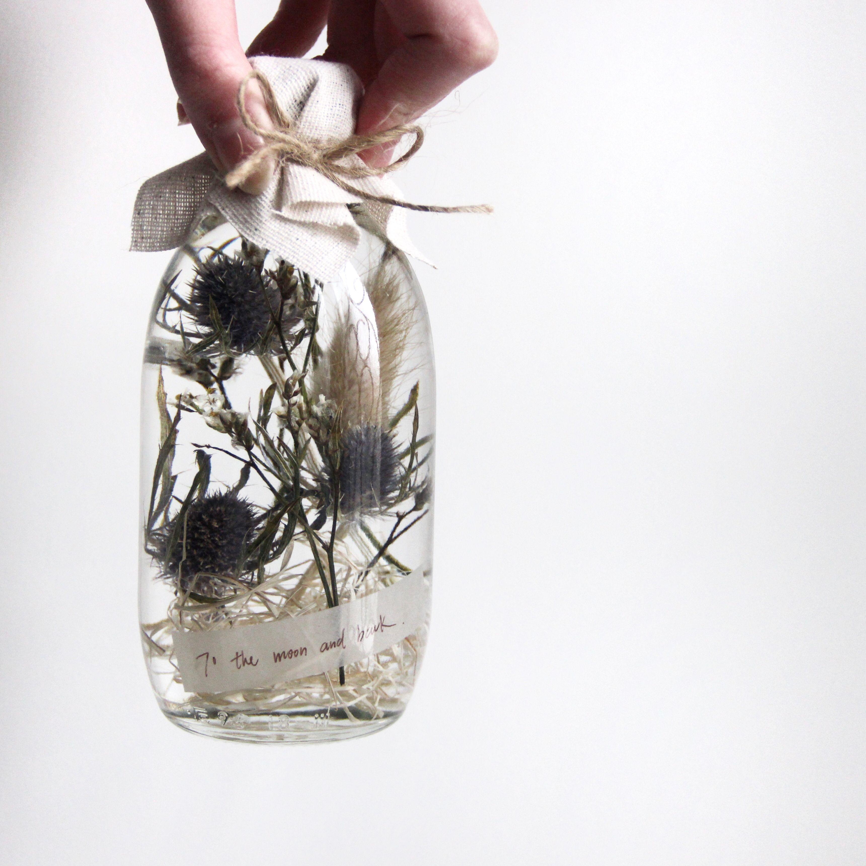 Pin Oleh Sylviana S Di Glass Decor Bunga Kering Bunga