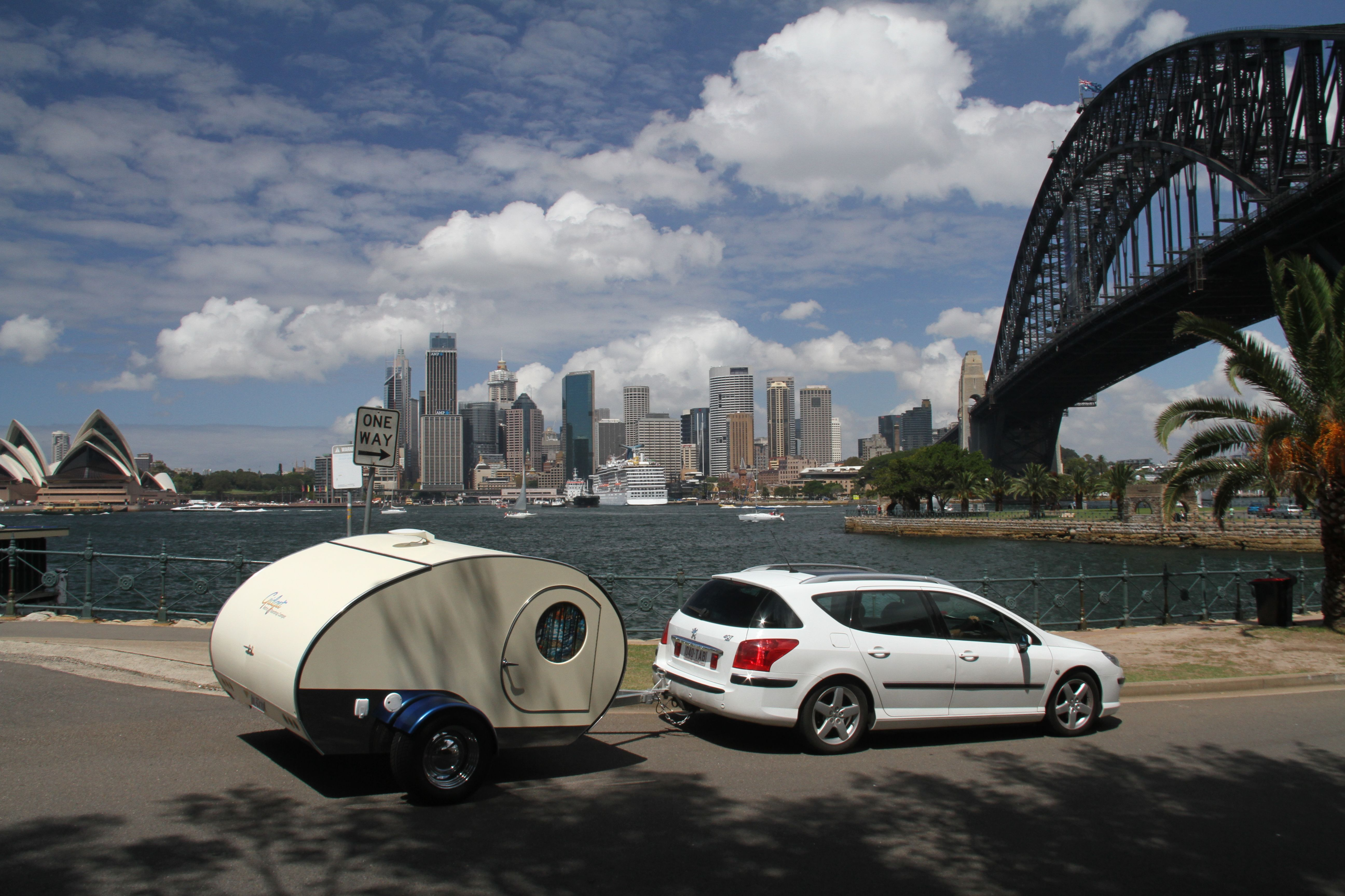 Gidget Retro Teardrop Camper Leaving Sydney After A Fantastic Day Meeting  Our Facebook Friends And New