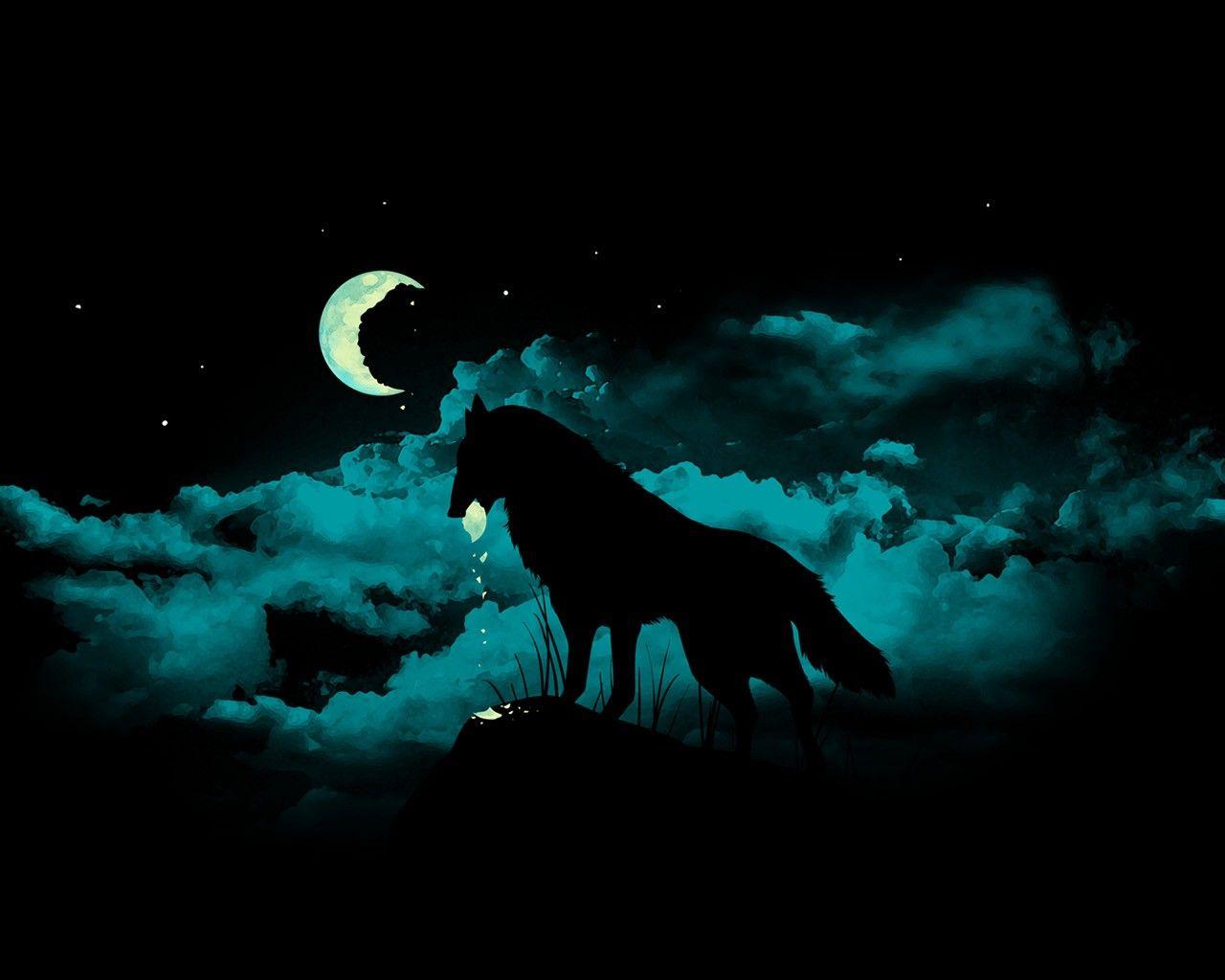 Wolf Backgrounds Moon Moon Wolf Wallpaper Hd Moon Moon