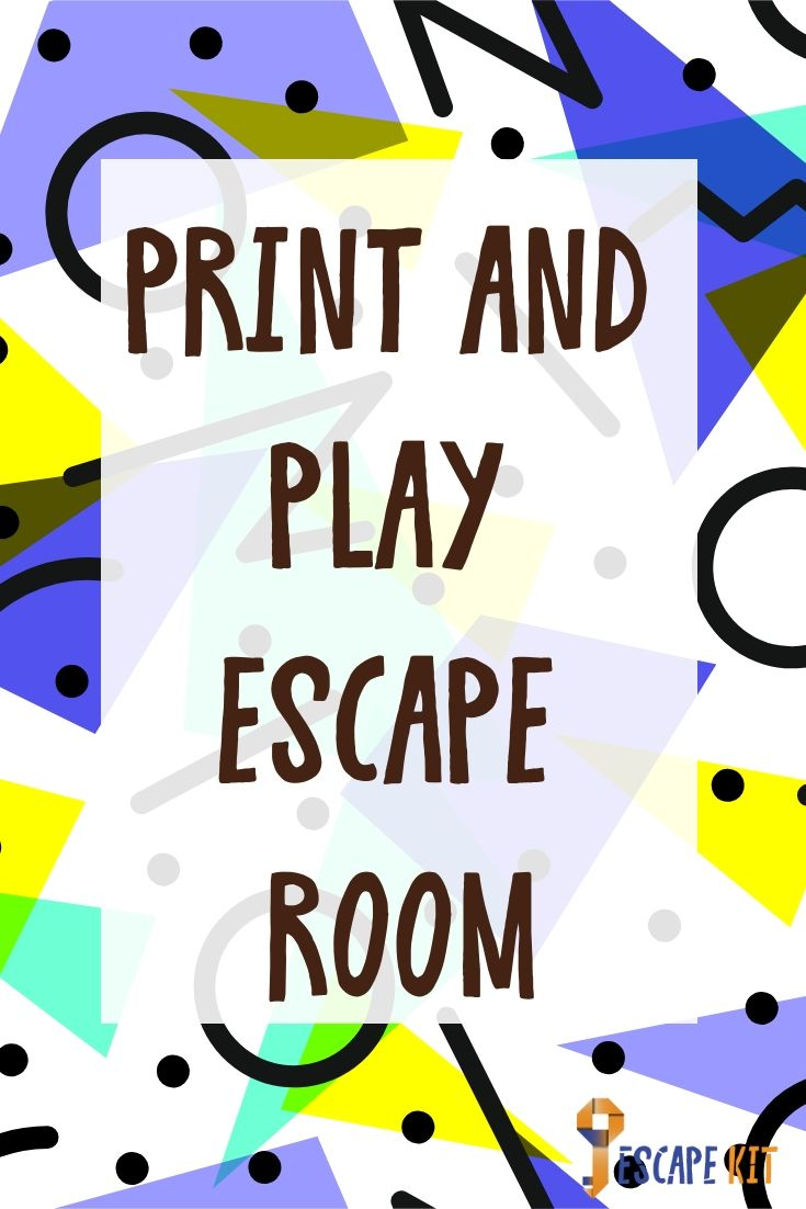 It is a graphic of Satisfactory Free Printable Escape Room Kit Pdf