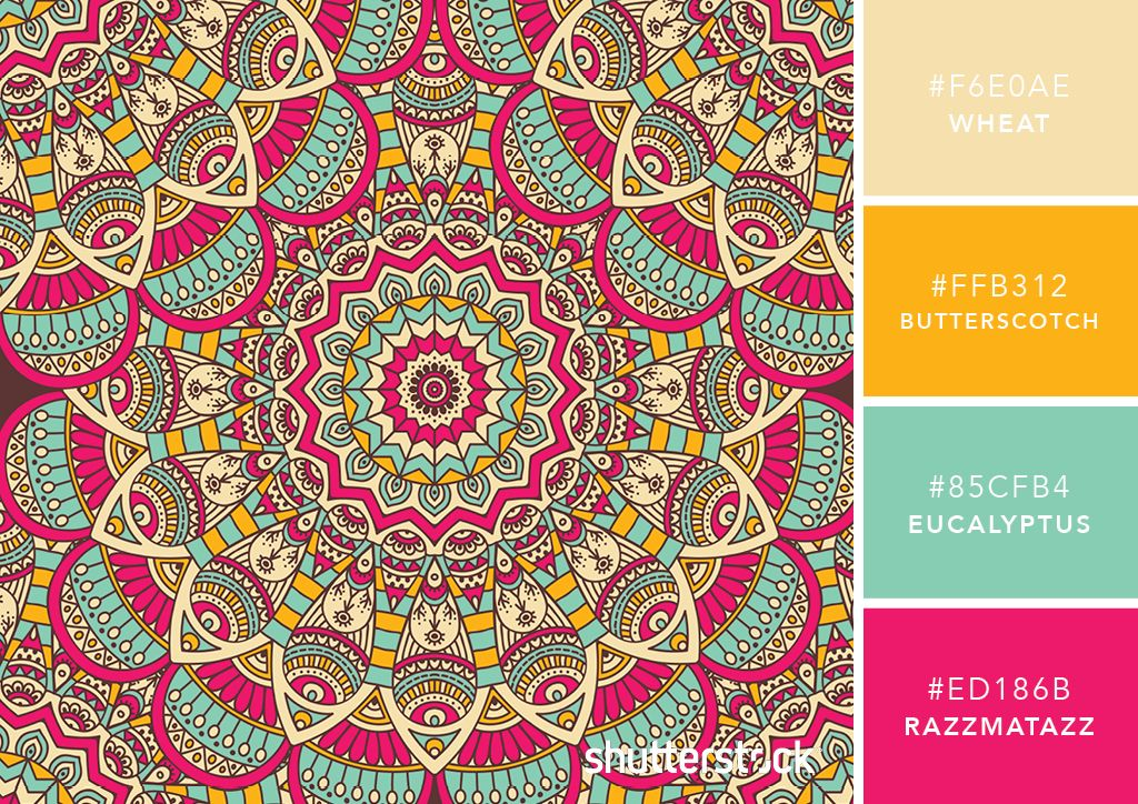 101 Color Combinations To Inspire Your Next Design Mandala Color Palette Color Palette Bright Color Schemes Design Brand Color Palette