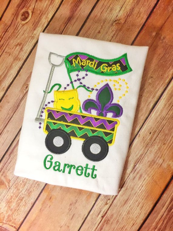 Mardi Gras Shirt Boys Mardi Gras Shirt by Southernismboutique