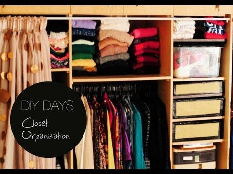 DIY DAYS: How To Organize Your Closet   YouTube
