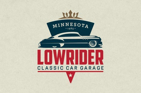 Classic Car Garage Logo by g design on CreativeWork247 – Graphics,Fonts,Themes,T…