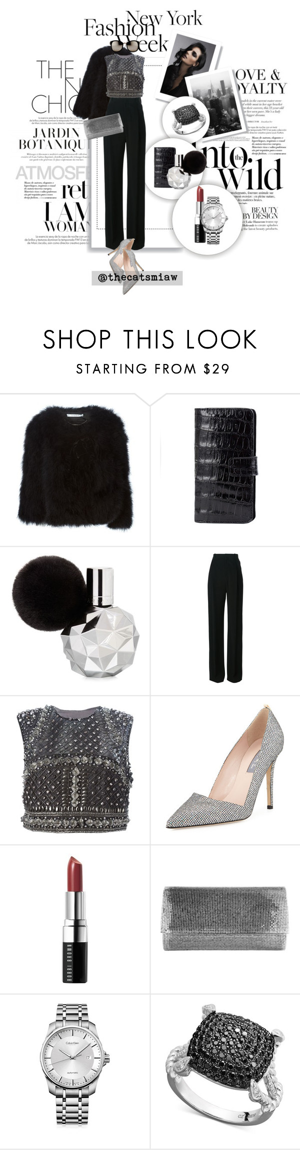 """Pack for NYFW! - Embellished"" by belleforcible ❤ liked on Polyvore featuring Louis Vuitton, Anja, Givenchy, N+J Beverly Hills, Alberta Ferretti, SJP, Bobbi Brown Cosmetics, Judith Leiber, Calvin Klein and Linda Farrow"