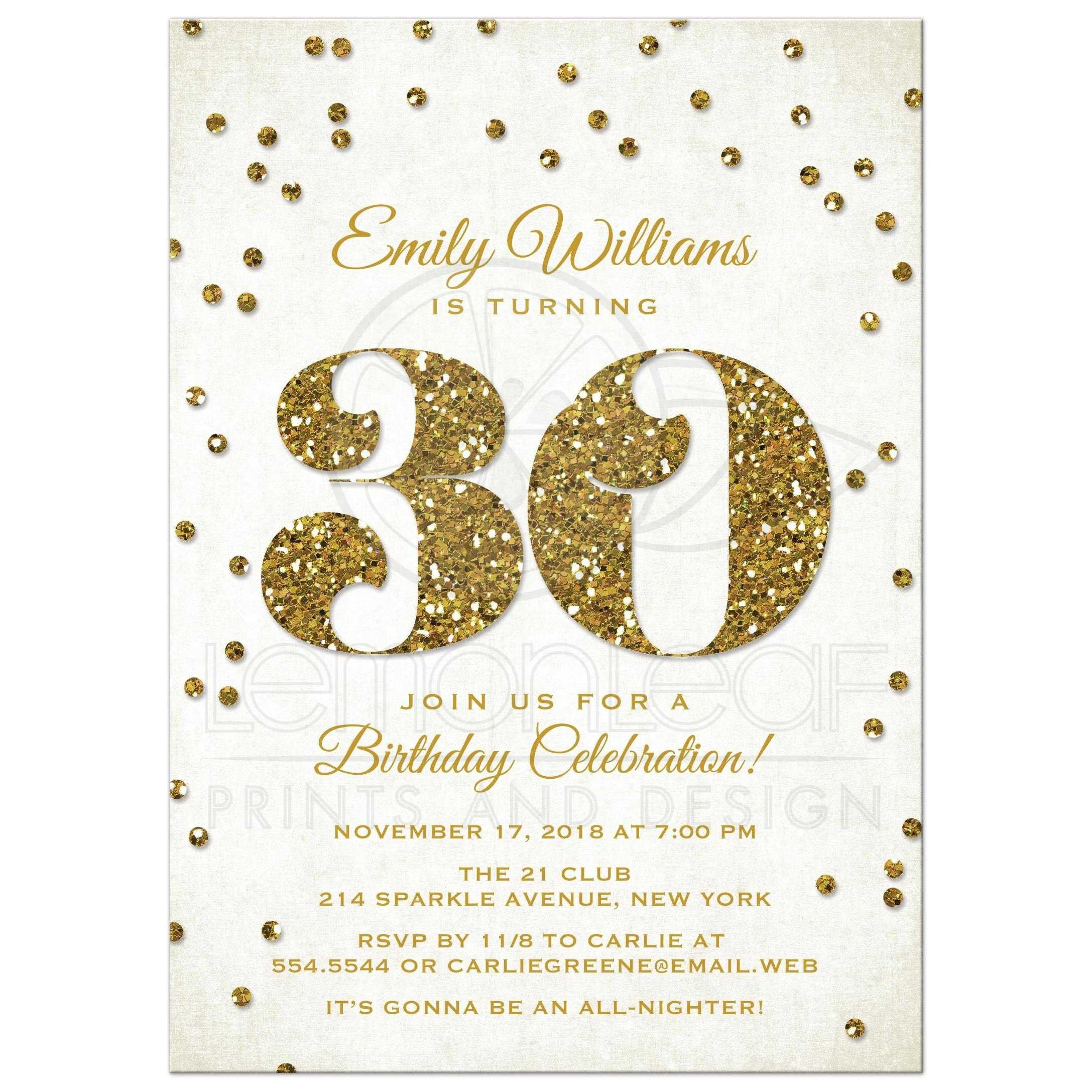 30th Birthday Invitations Templates Free Printable  Free Birthday Template Invitations
