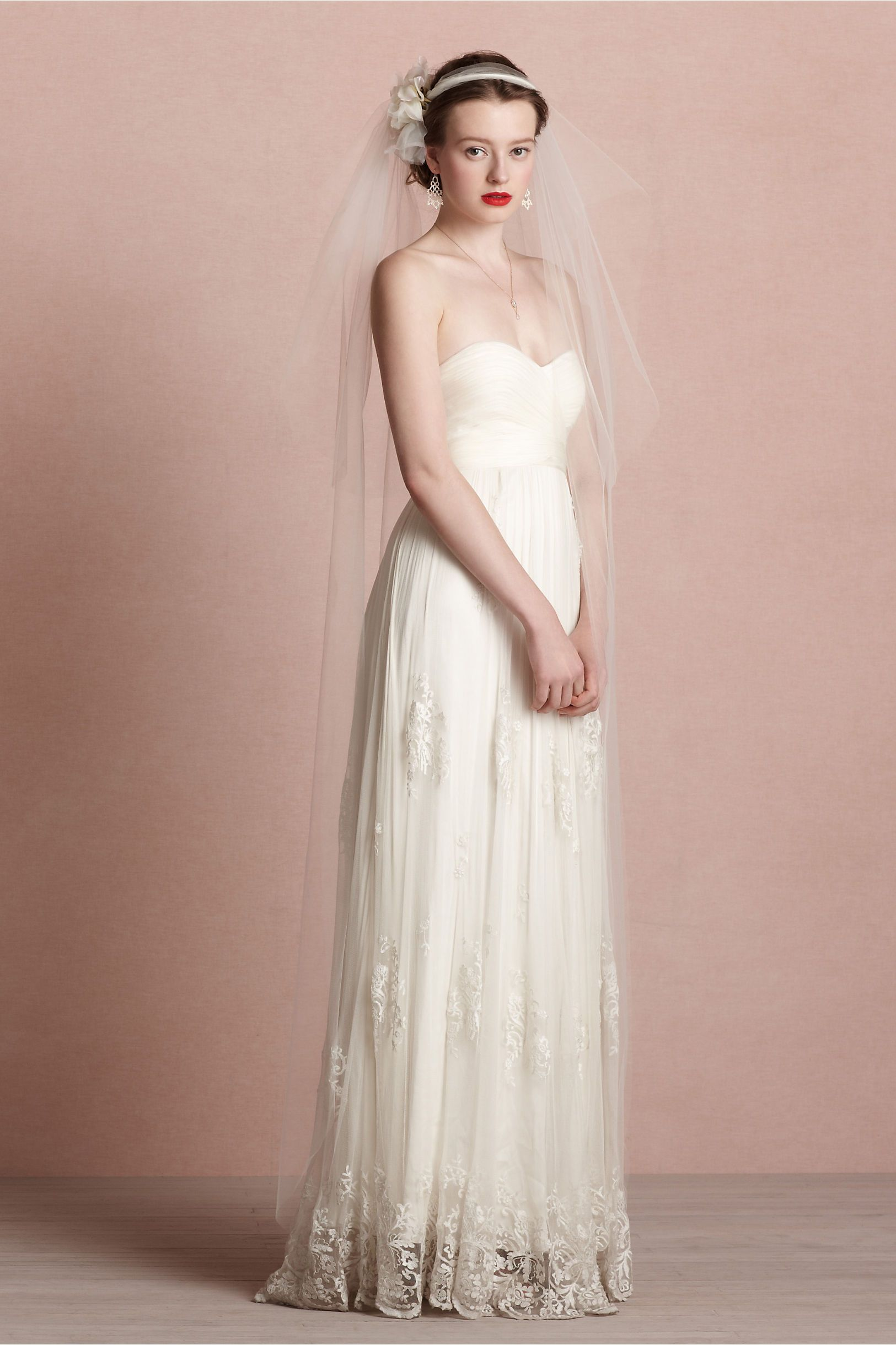 Bourbon Rose Veil in Shoes & Accessories Veils at BHLDN | wedding ...