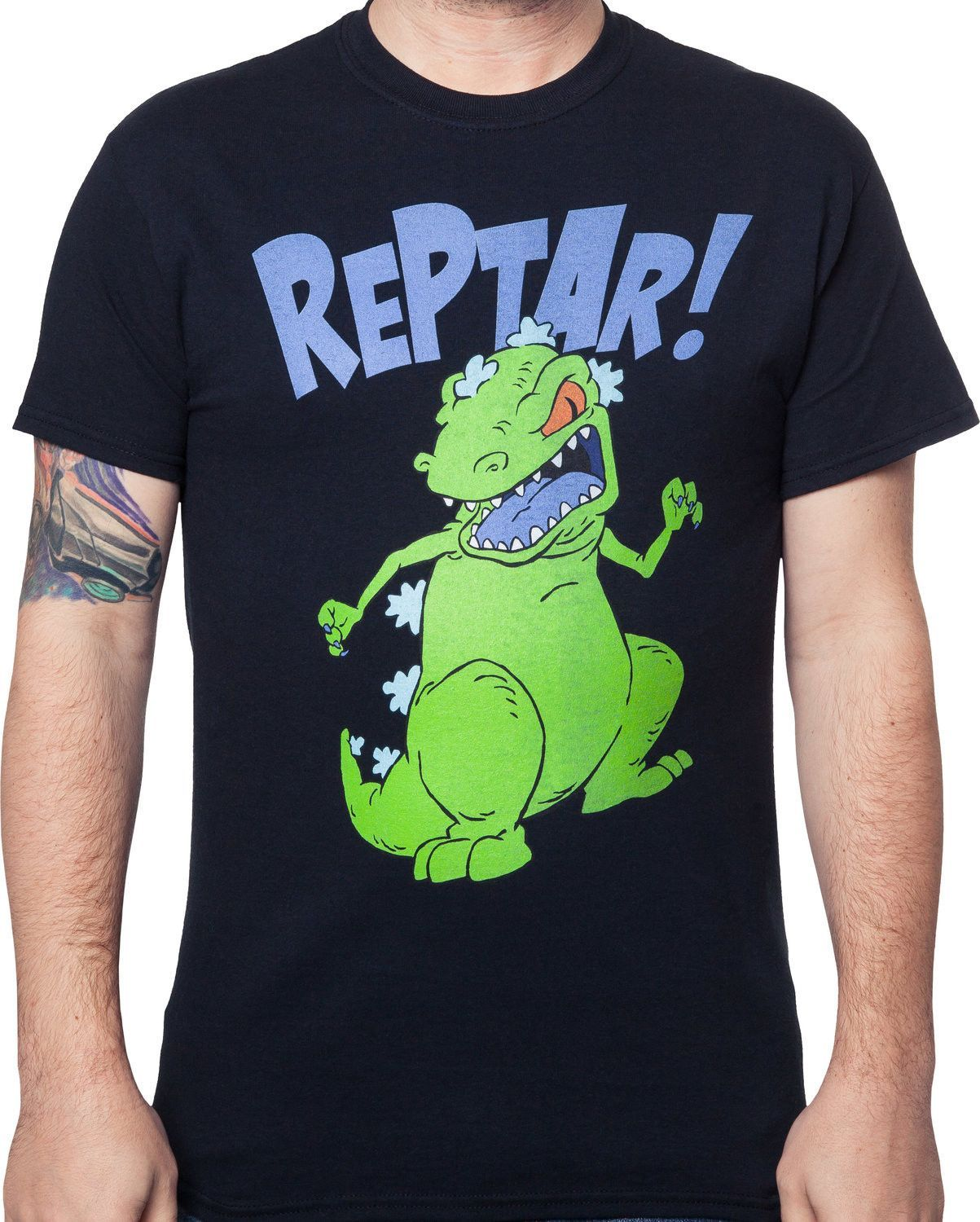 8fc02789 This Reptar Shirt features the Godzilla like creature from the hit  Nickelodeon show Rugrats.