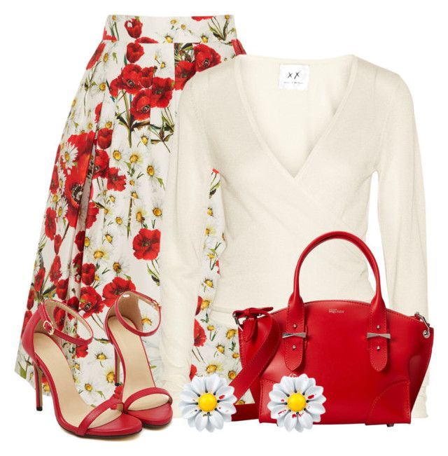 """""""Flowery skirt"""" by domino-80 ❤ liked on Polyvore featuring Dolce&Gabbana, Banjo & Matilda, Alexander McQueen, Monsoon, women's clothing, women, female, woman, misses and juniors"""
