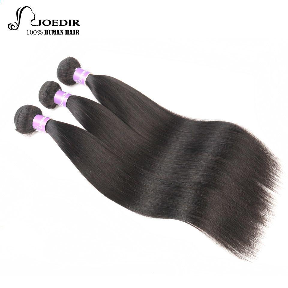 Joedir Păr Hair Malaezian 3 Bundles Straight Pre Colored Hair