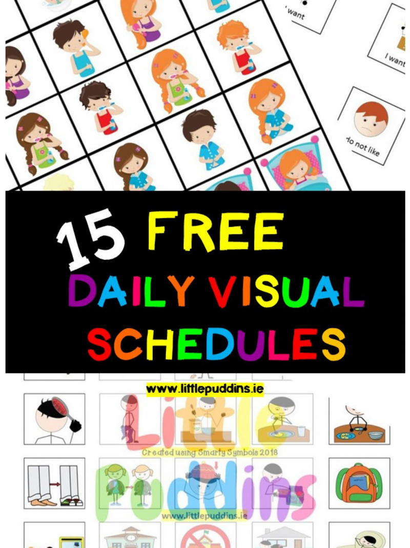 15 Free Visual Schedules Printables The Best Free Online Resources For Children With Special Visual Schedule Autism Visual Schedule Preschool Visual Schedules